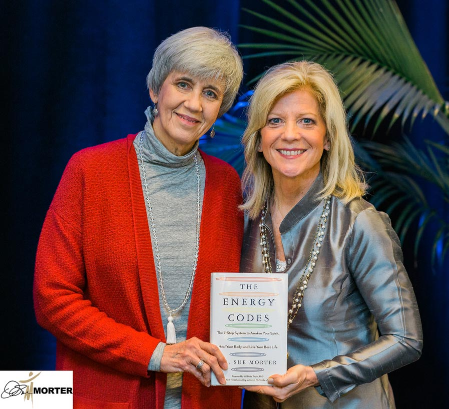 Judith and Dr Sue with Energy Codes book